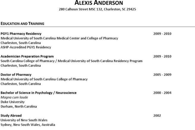 Resume Samples For Freshers Pharmacy