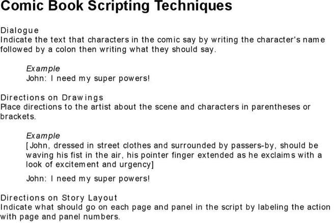 comic script writing Sample comic book scripts the comic book script archive – a fantastic compilation site of scripts by a wide range of top comic book writers including brian.