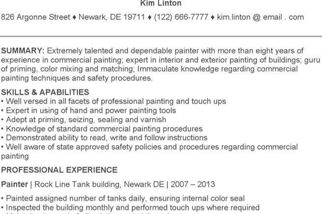 painters helper resume carpinteria rural friedrich