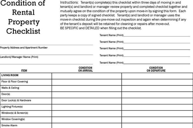 Rent and lease template download free premium for Rental property inspection checklist template