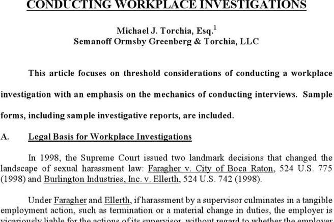 Workplace Investigation Report Templates  Download Free  Premium