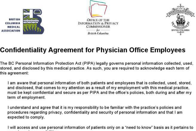 Agreement Template – Medical Confidentiality Agreement