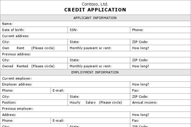 Credit application form download free premium templates forms credit application form download free premium templates forms samples for jpeg png pdf word and excel formats thecheapjerseys Gallery