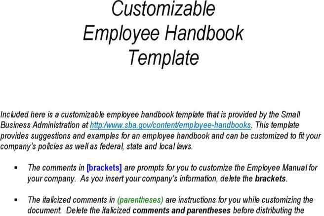 personnel manual template - hr template download free premium templates forms