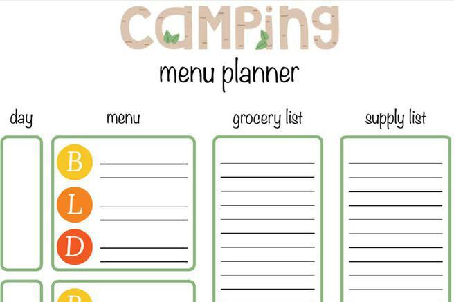 Daily Menu Planner Templates