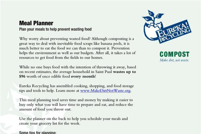 Sample Daily Meal Planner Templates