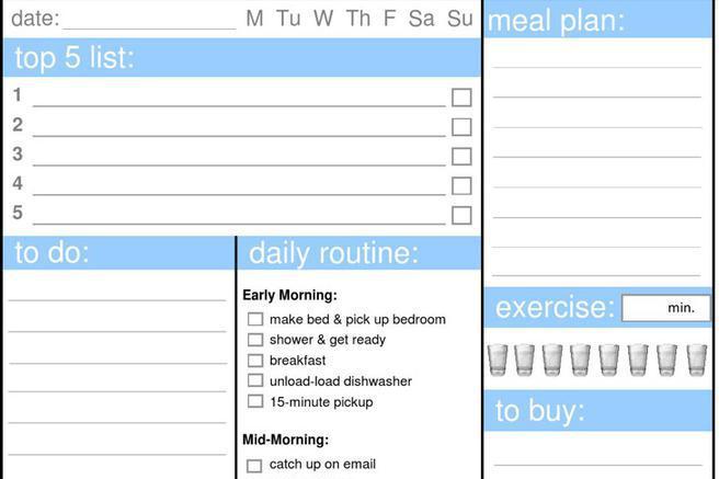 Daily Organizer Planner Templates