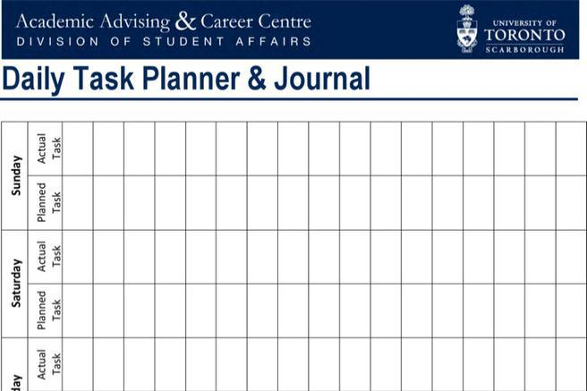 Daily Task Planner Templates
