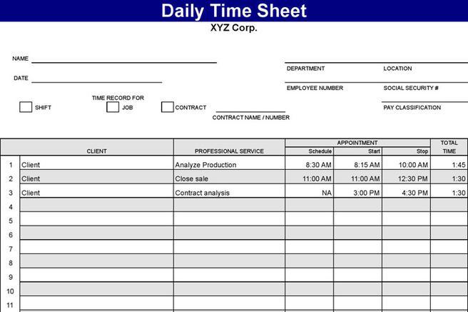 Timesheet Template | Download Free & Premium Templates, Forms ...