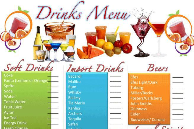 Menu template download free premium templates forms for Drink menu template microsoft word