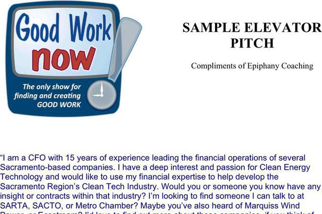 Elevator Pitch Examples  Download Free  Premium Templates Forms