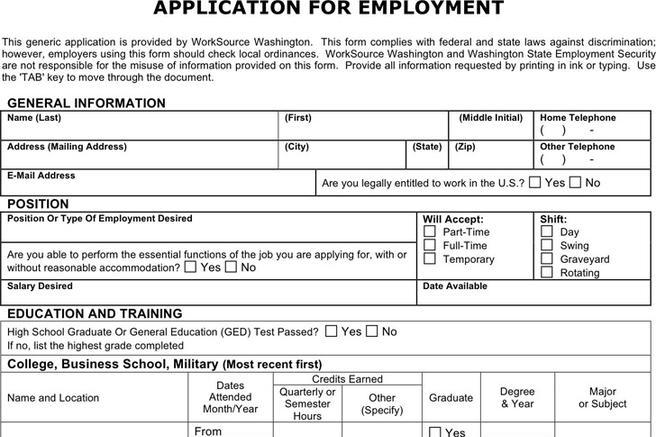 Job Application Form | Download Free & Premium Templates, Forms