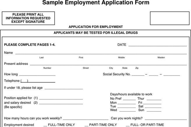 employment-application-form-3 Job Application Form For Safeway on part time, free generic, blank generic,