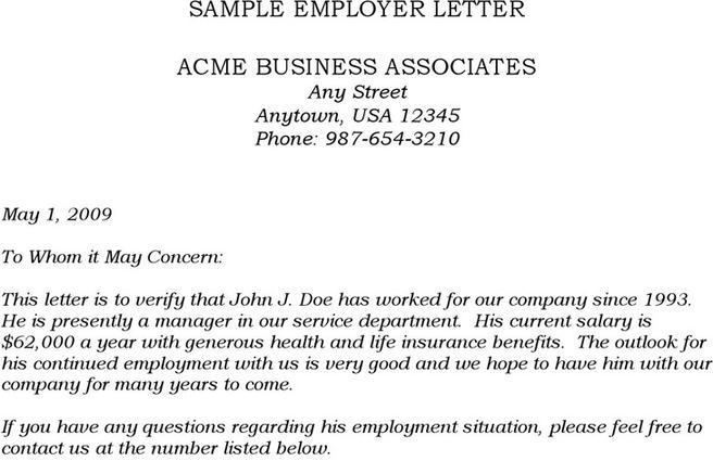 Sample Employment Verification Letter | Download Free & Premium