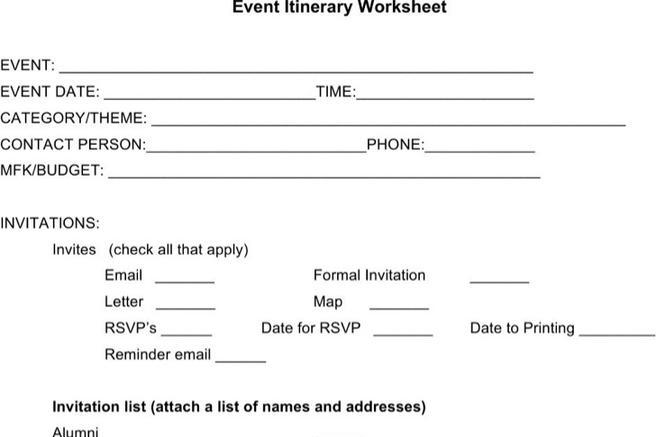 Itinerary Sample Sample Holiday Itinerary Template Sample Blank