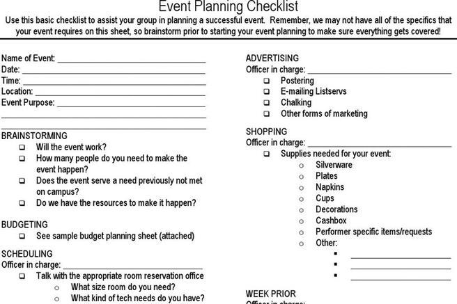 Event Planning Checklist  Download Free  Premium Templates