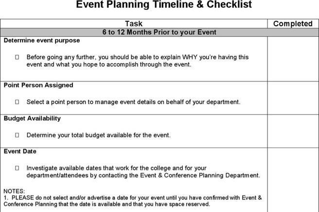 Event Timeline Templates