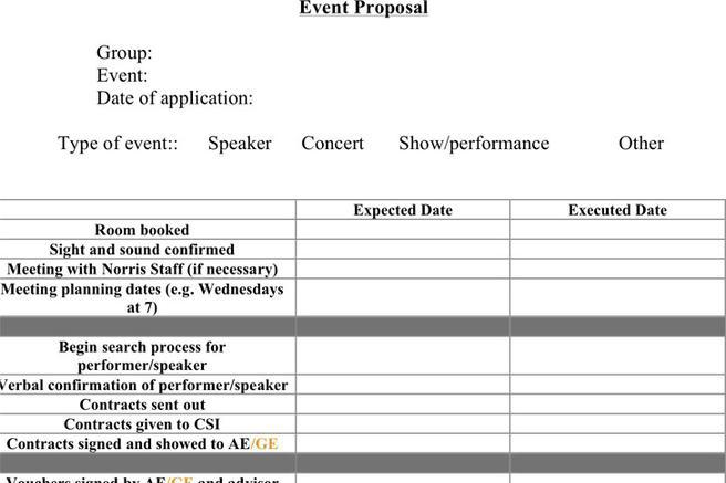 Event Proposal Templates Costumepartyrun