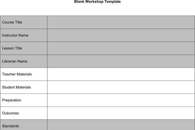 Plan Templates – Sample Blank Lesson Plan Template