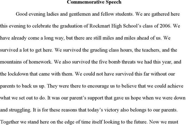 Commemorative Speech Examples  Download Free  Premium Templates