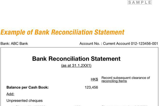 Bank Reconciliation Example | Download Free & Premium Templates
