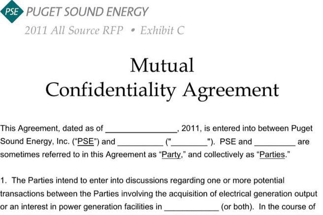 Agreement Template – Mutual Confidentiality Agreement