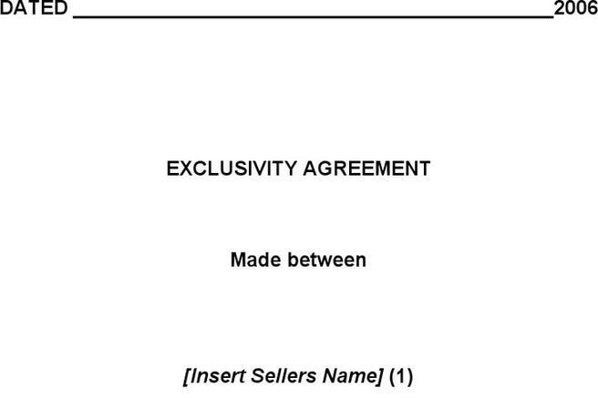 Exclusivity Agreement Template | Download Free & Premium Templates