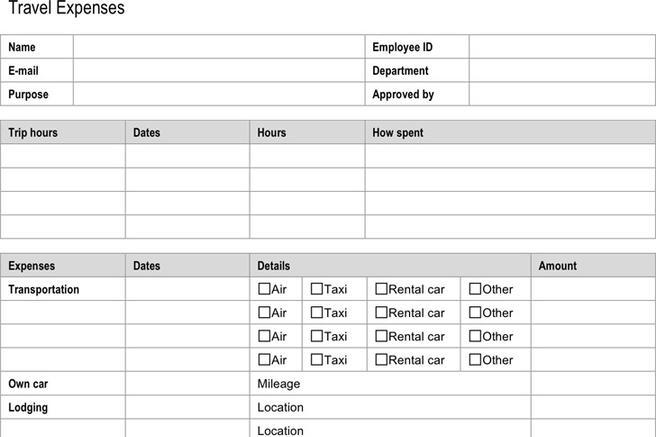Examples Of Expense Reports. Student List Template Examples Of