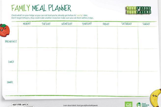 Daily Meal Food Planner Templates