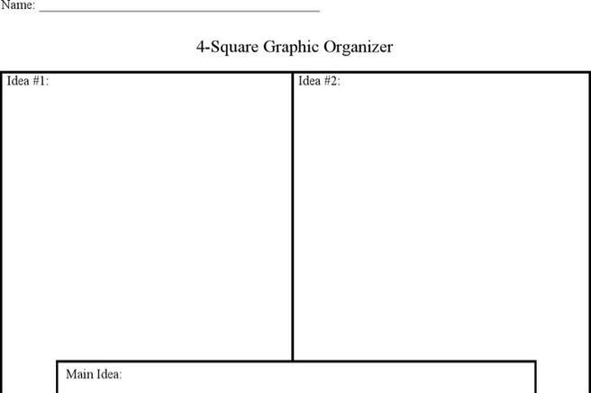 Four Square Writing Templates