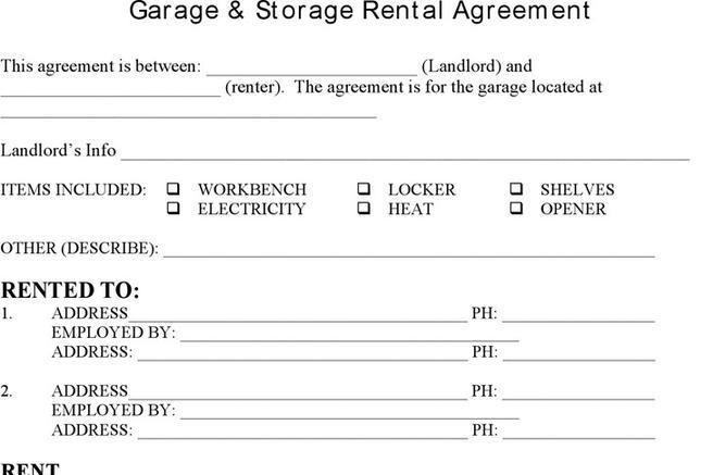 Storage Rental Template Download Free Amp Premium