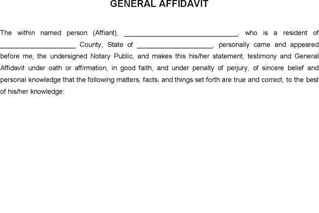 Word Affidavit Template Sample Affidavit – Word Affidavit Template