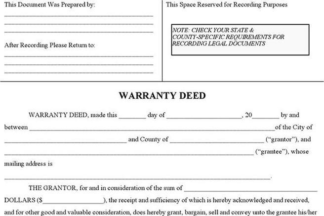 warranty deed form download free premium templates forms samples for jpeg png pdf word
