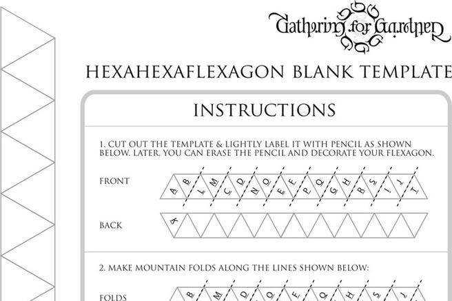 hexaflexagon template and instructions