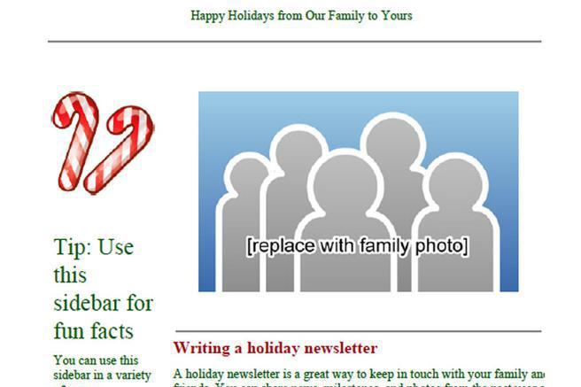 Newsletter Template – Holiday Newsletter Template