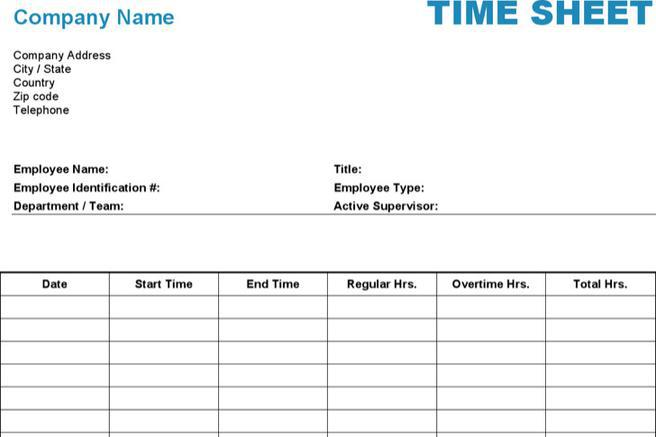 Timesheet Template  Download Free  Premium Templates Forms