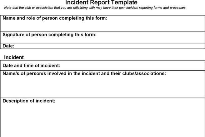 Incident Report Template   Download Free & Premium Templates, Forms ...