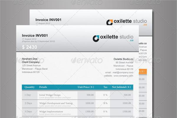 Invoice Template | Download Free & Premium Templates, Forms