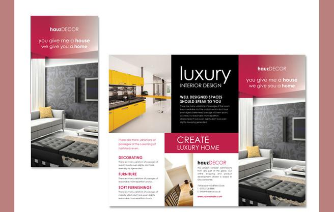 Brochure templates download free premium templates for Interior decoration brochure design