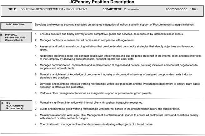 jcpenney-position-description Job Application Form Jcpenney on sonic printable, blank generic, free generic, part time, big lots,