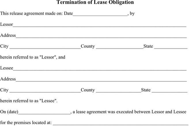 Lease Termination Agreement  Download Free  Premium Templates