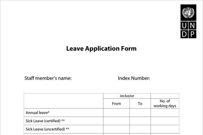 Doc694951 Employee Leave Application Form Doc627338 Leave – Leave Application Form