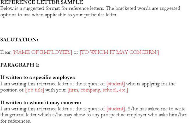 Reference Letter Template | Download Free & Premium Templates