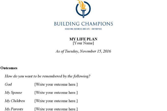 Life Plan Templates