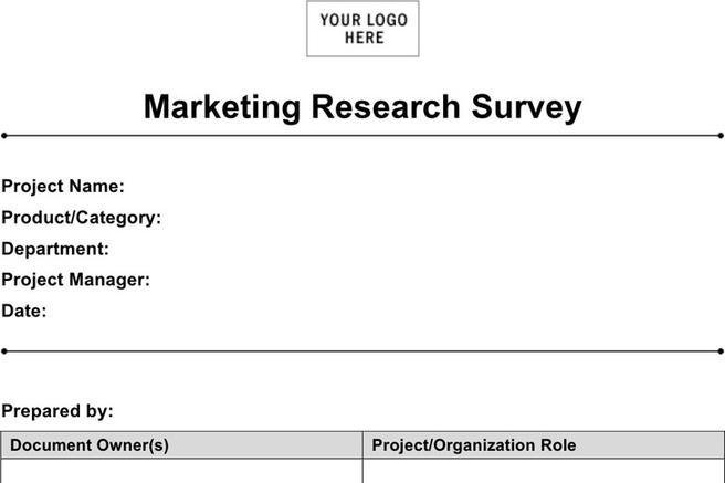 market research document template - marketing template download free premium templates