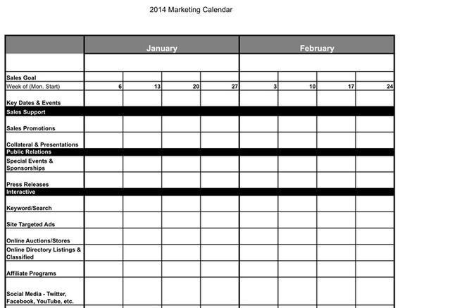 marketing calendar template download free premium. Black Bedroom Furniture Sets. Home Design Ideas