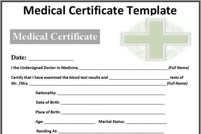 Medical Certificate Sample  Download Free  Premium Templates