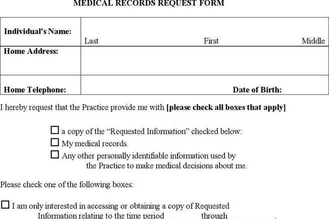 Medical Records Request Form  Download Free  Premium Templates