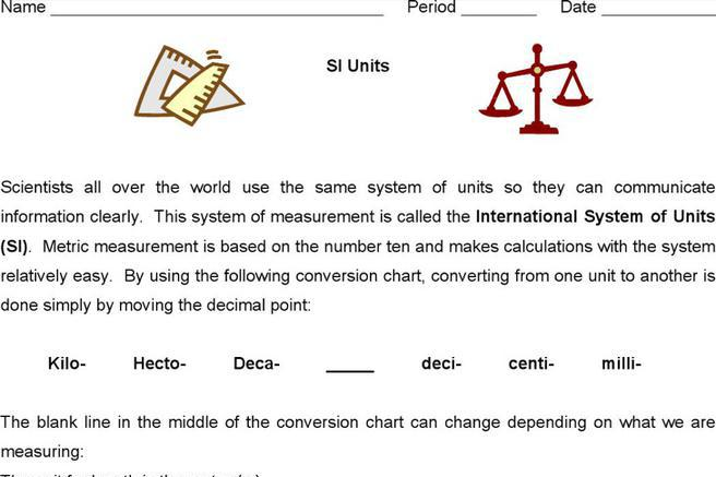 8 Sample Metric System Conversion Chart Templates Free Download