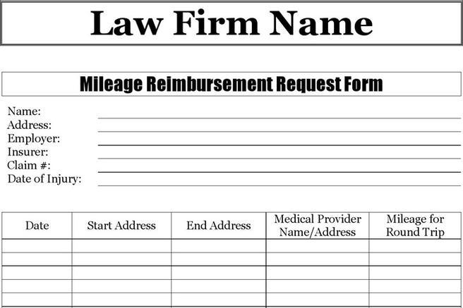 Mileage Reimbursement Form Mileage Log Template Pdf Mileage Log
